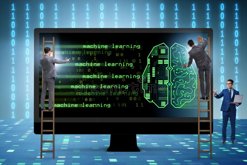 The cognitive computing and machine learning concept. Cognitive computing and machine learning concept royalty free stock photos
