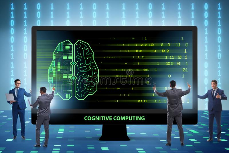 The cognitive computing and machine learning concept. Cognitive computing and machine learning concept stock photography