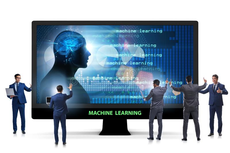 The cognitive computing and machine learning concept. Cognitive computing and machine learning concept stock image