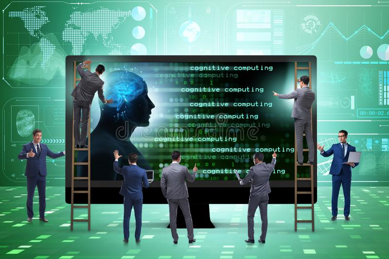 The cognitive computing and machine learning concept. Cognitive computing and machine learning concept stock images