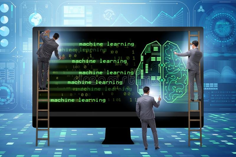 The cognitive computing and machine learning concept. Cognitive computing and machine learning concept royalty free stock images