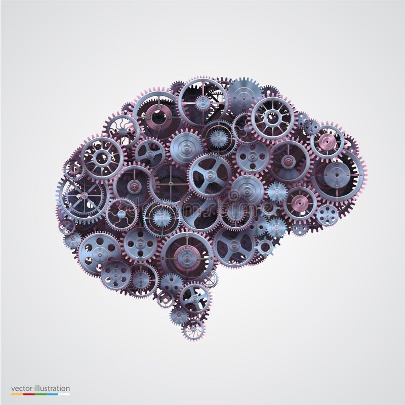 Cogs в форме человеческого мозга бесплатная иллюстрация