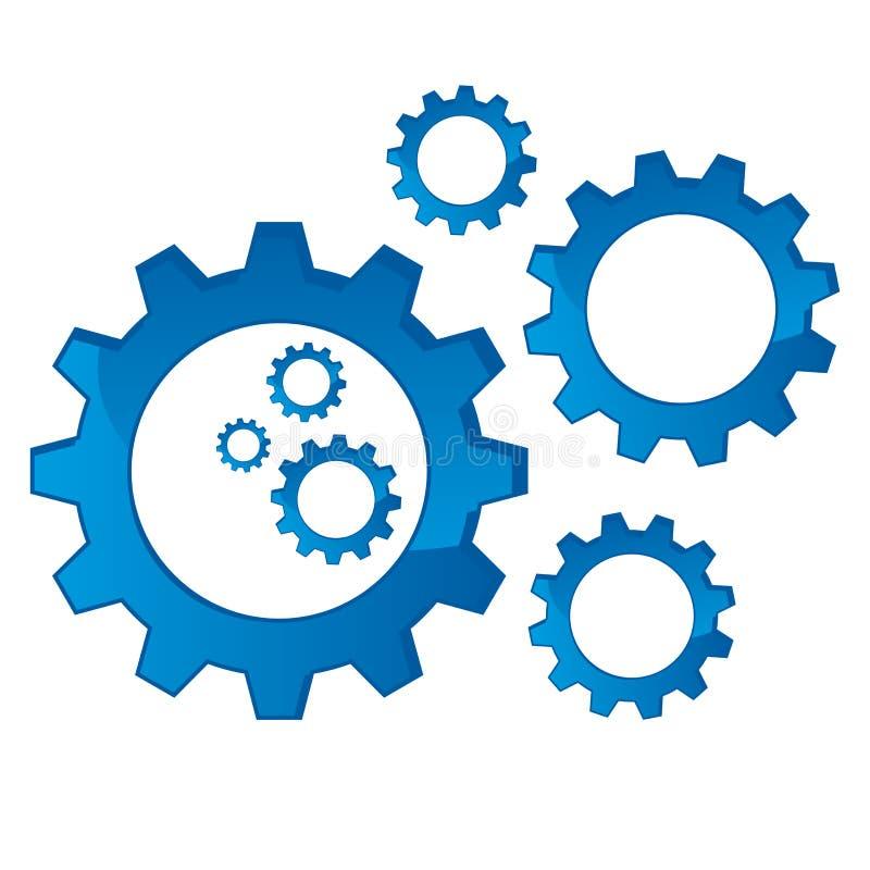 cogs механически иллюстрация вектора