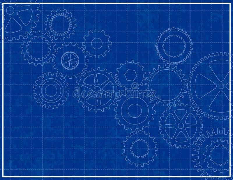 cogs светокопии предпосылки иллюстрация вектора