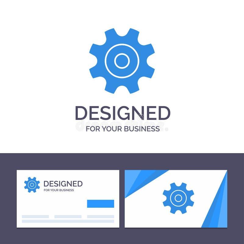 Cogs творческого шаблона визитной карточки и логотипа, шестерня, установка, иллюстрация вектора колеса иллюстрация вектора