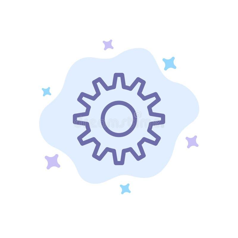 Cogs, шестерня, устанавливая голубой значок на абстрактной предпосылке облака бесплатная иллюстрация