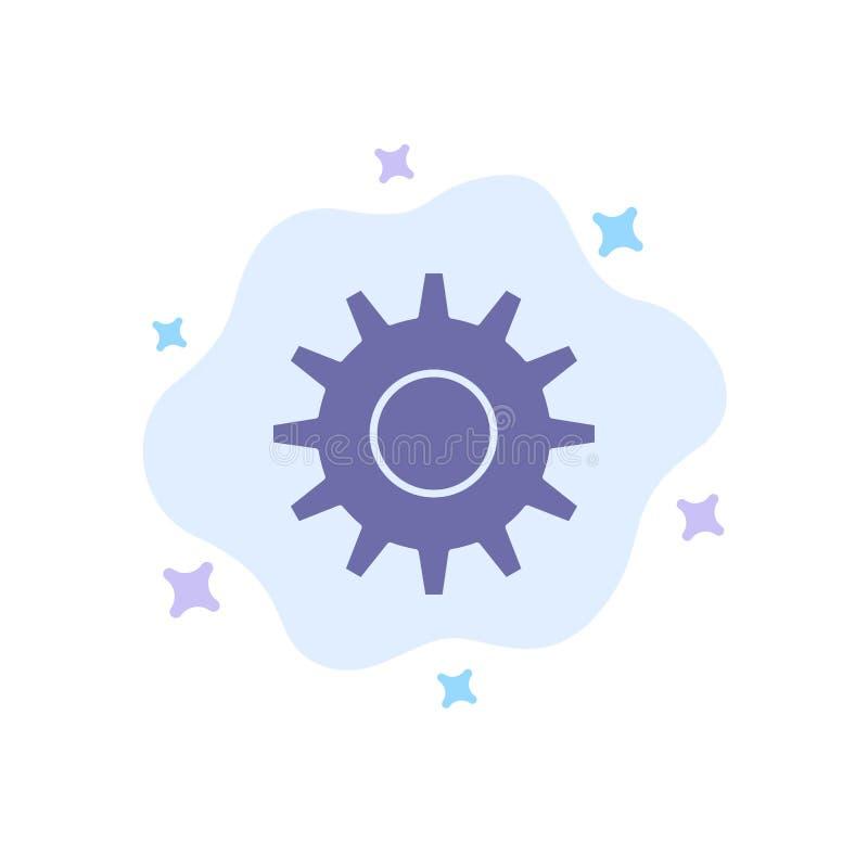 Cogs, шестерня, устанавливая голубой значок на абстрактной предпосылке облака иллюстрация вектора