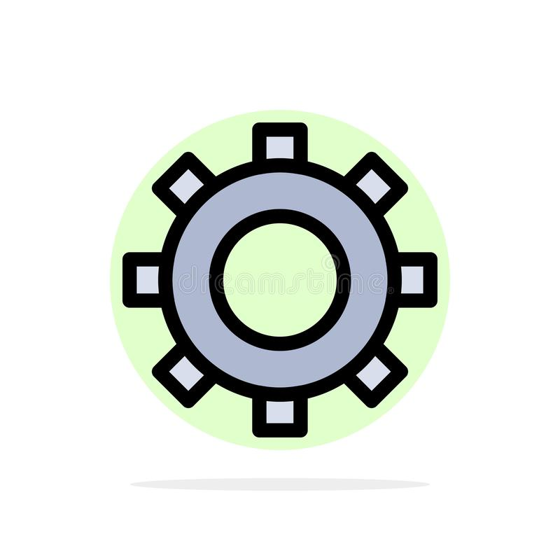 Cogs, шестерня, устанавливая значок цвета абстрактной предпосылки круга плоский иллюстрация штока