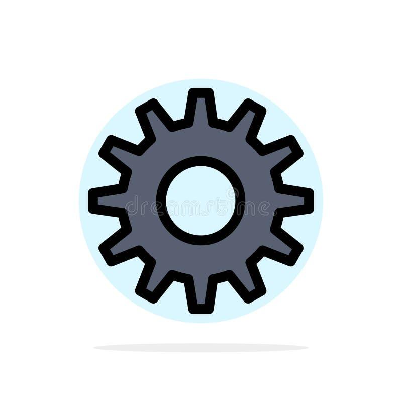 Cogs, шестерня, устанавливая значок цвета абстрактной предпосылки круга плоский иллюстрация вектора