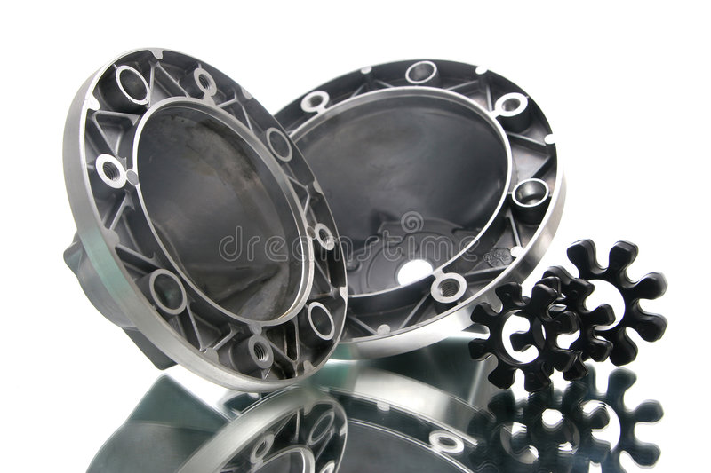 Cogs. Group of cogs made from durable metal royalty free stock photo
