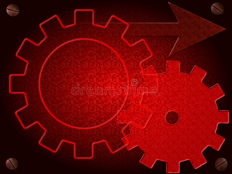 Cogs royalty free illustration