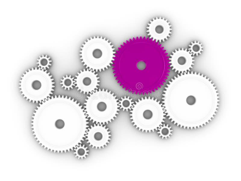 cogs 3d иллюстрация вектора