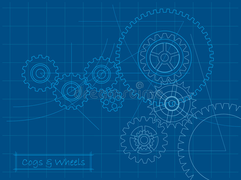 Download Cogs Blueprint Stock Images - Image: 8092104