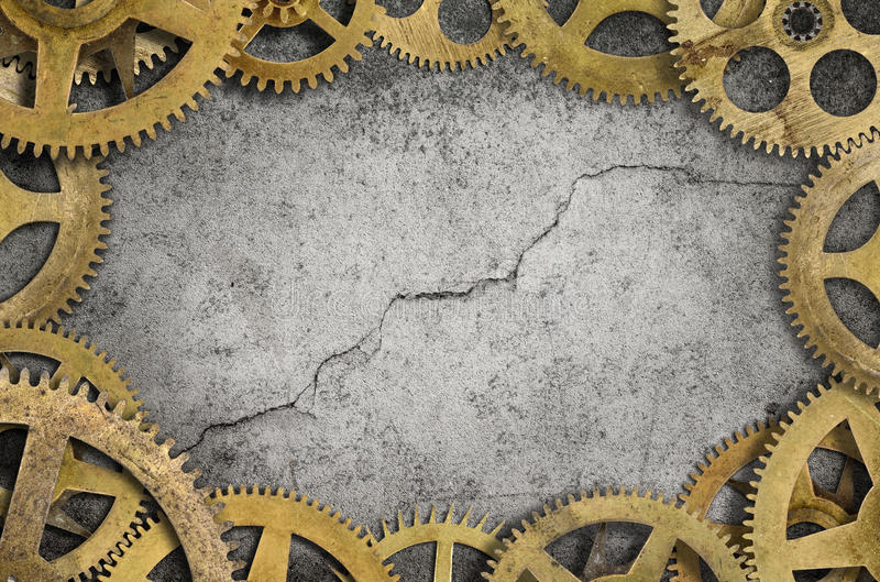 Cogs Border stock photography