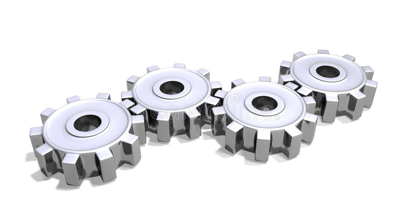Download Cogs Chrome Royalty Free Stock Photos - Image: 26538688