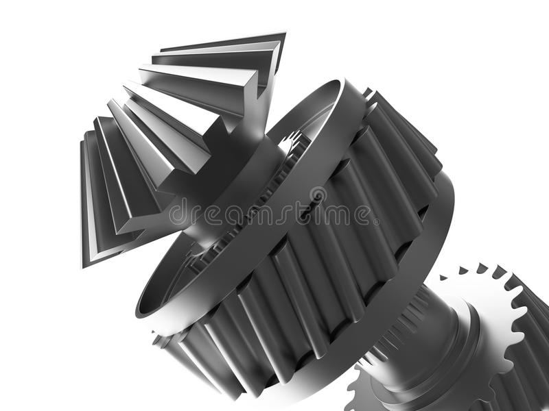 Cogs On A Cogwheel Royalty Free Stock Photo