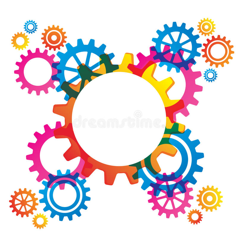 Cogs and Gears. Abstract design with cogs and gears with room for text royalty free illustration