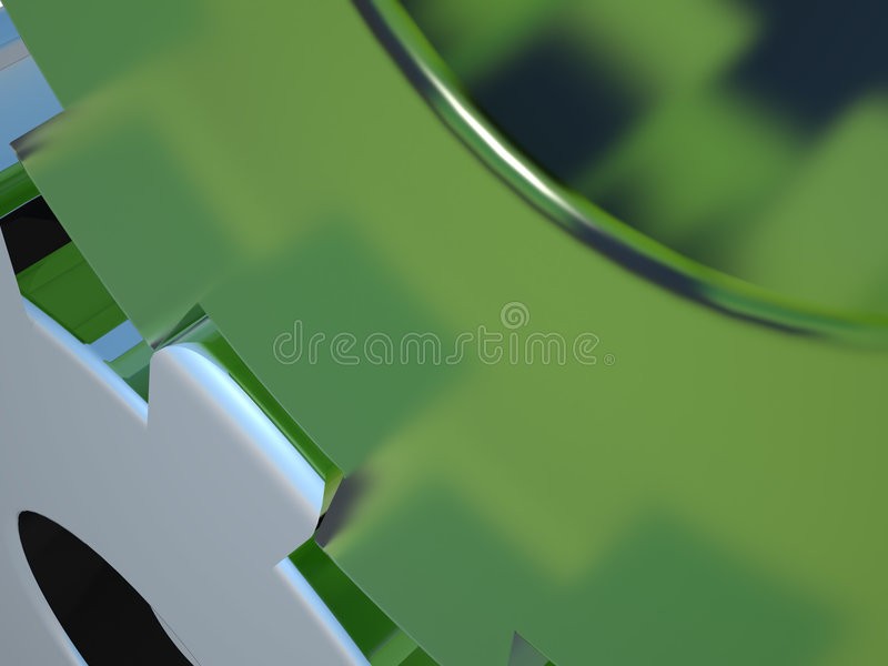 Download Cogs - Green Glass & Chrome Stock Image - Image: 4579357