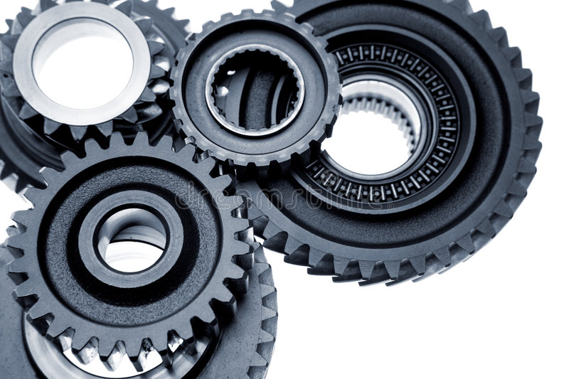 Cogs isolated on white royalty free stock images