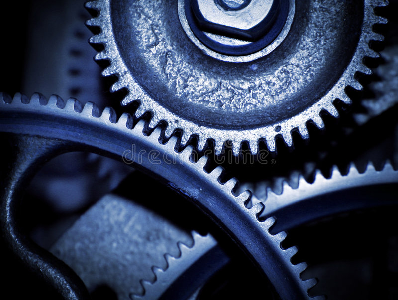 Cogs in a machine stock images