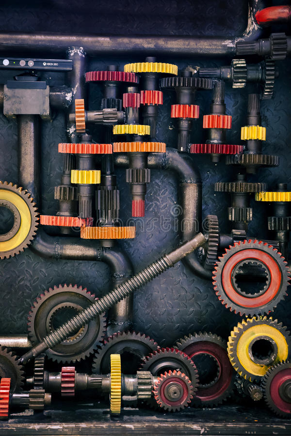 Cogs and pipes stock photo