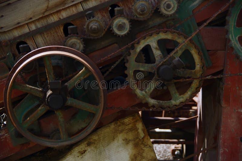 Cogs that power a conveyer belt. Cogs thatnpower conveyer belt stock images