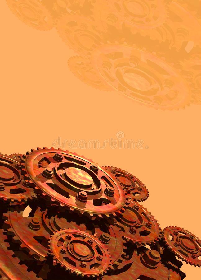 Download Cogs and wheels stock illustration. Image of steampunk - 20260246