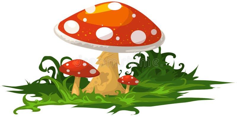 Cogumelo ilustração stock