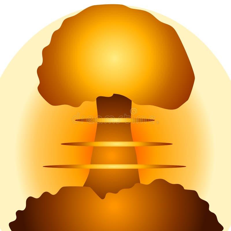 Cogumelo atómico 2 da bomba nuclear ilustração royalty free