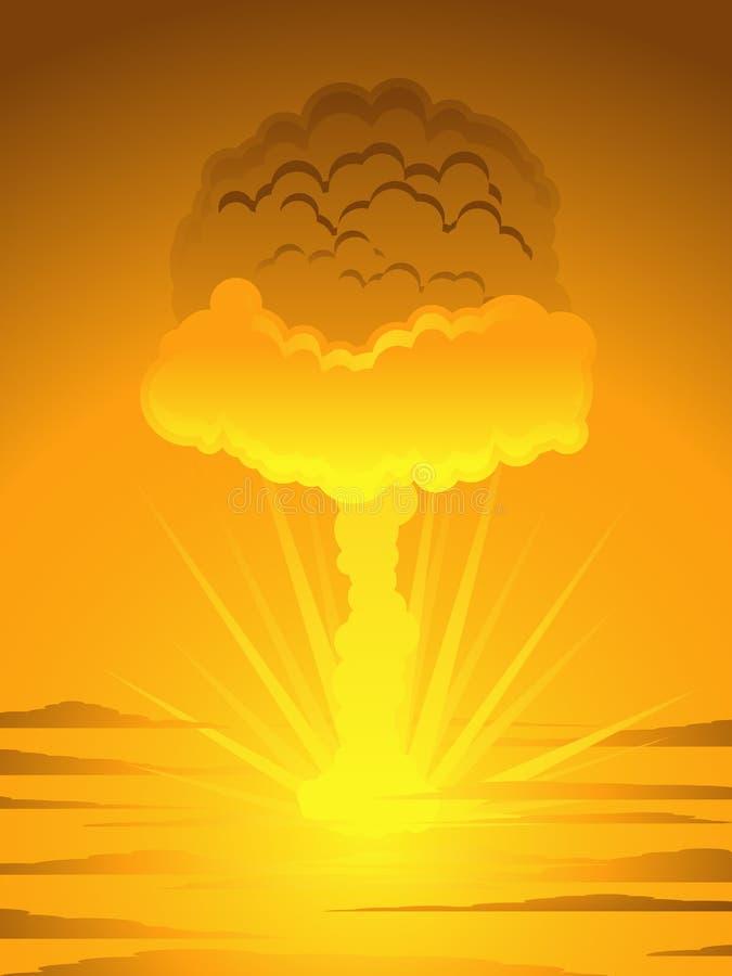 Cogumelo atómico atômico ilustração do vetor
