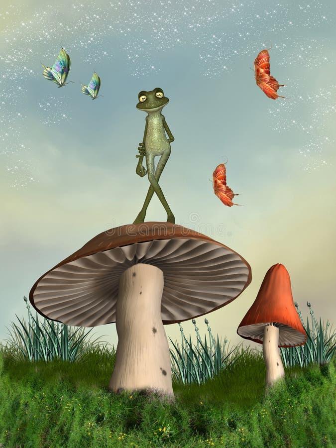 Cogumelo da fantasia ilustração stock
