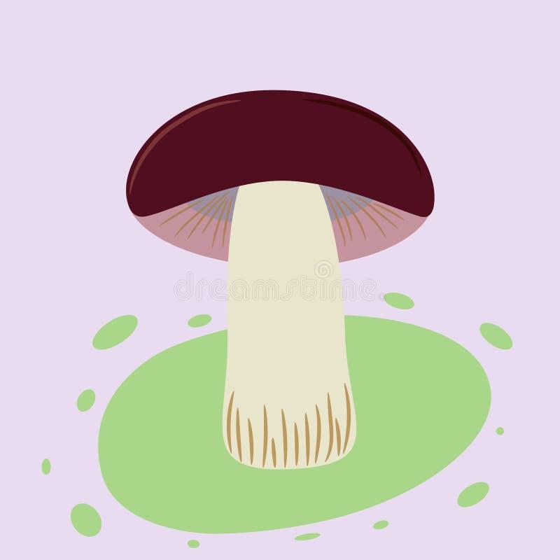 Cogumelo falso no fundo do lila ilustração royalty free