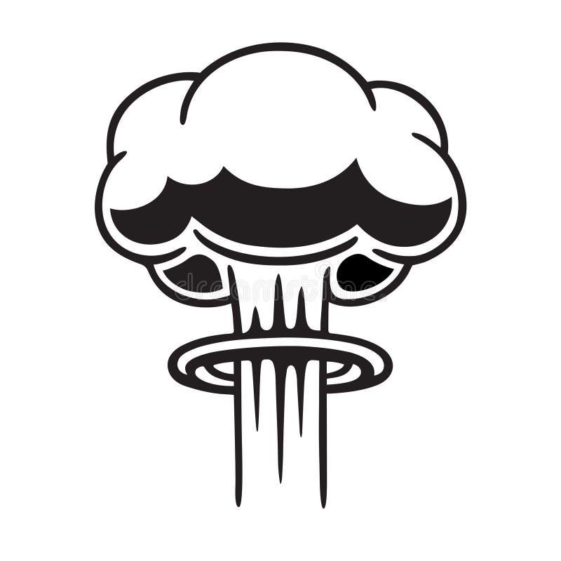 Cogumelo atômico nuclear ilustração do vetor
