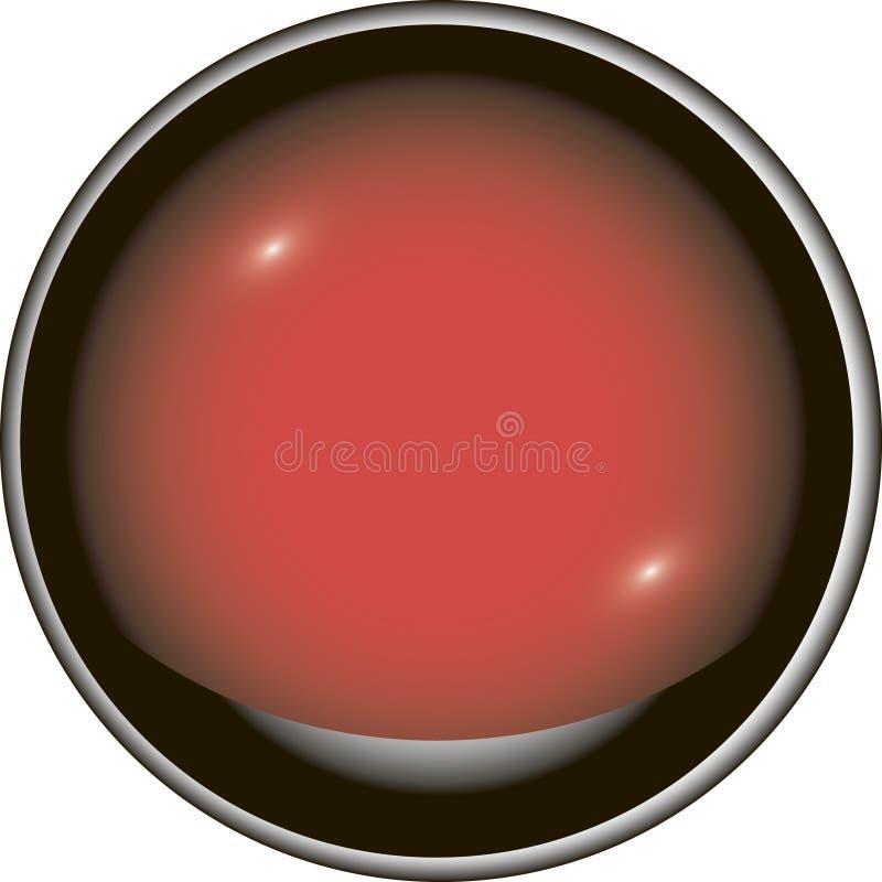 Cogumelo vermelho com haste branca foto de stock royalty free