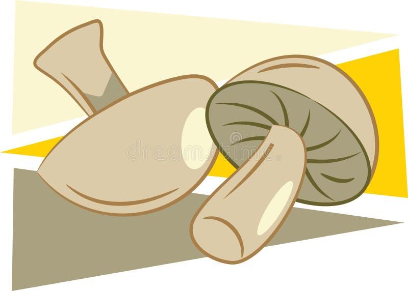 Download Cogumelos ilustração do vetor. Ilustração de snacks, fungos - 50616