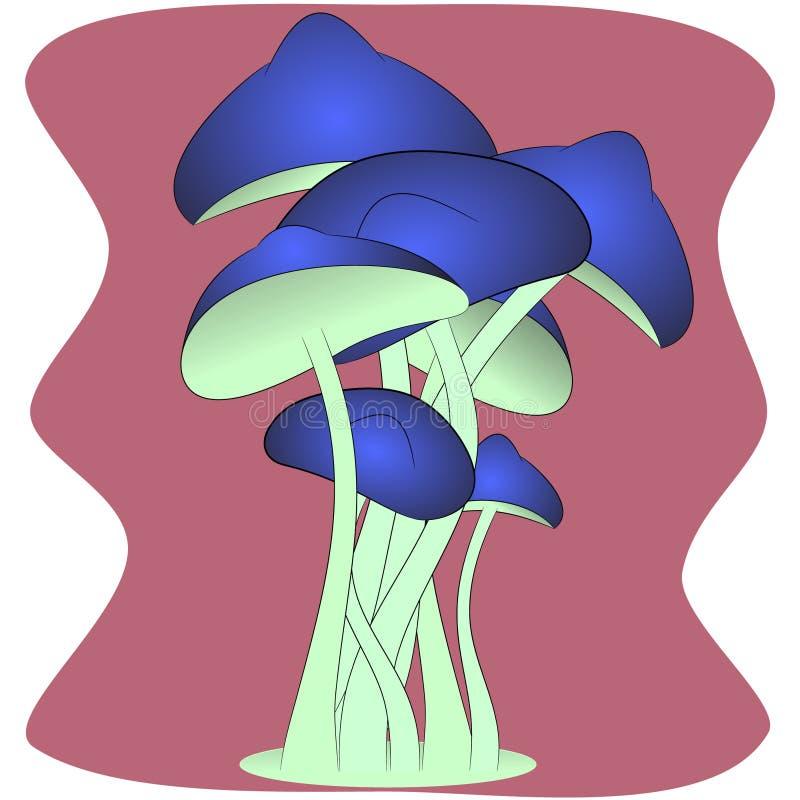 Cogumelos bonitos mágicos ilustração stock