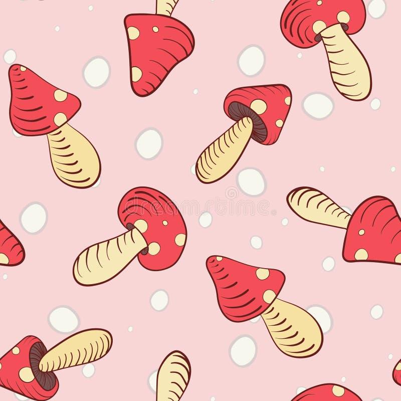 Cogumelos cor-de-rosa do marshmallow ilustração royalty free