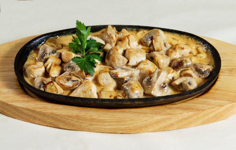Cogumelos cozidos - diah maravilhoso imagens de stock