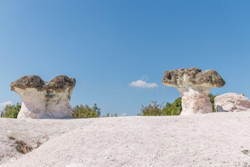 Cogumelos da pedra do fenômeno natural, Bulgária fotografia de stock