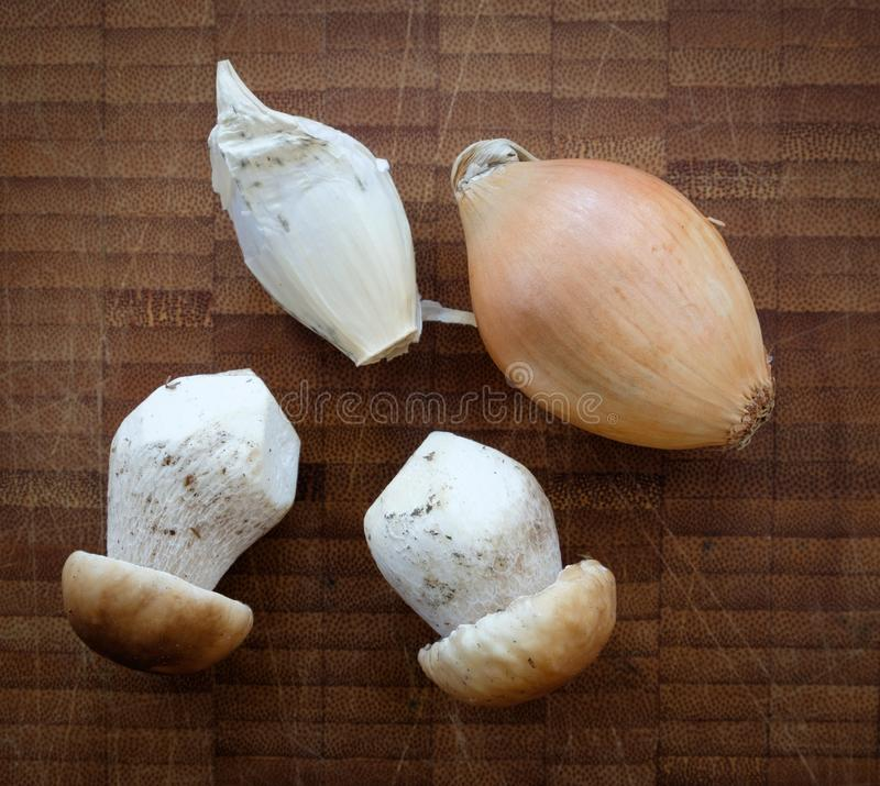 Cogumelos limpados do boleto foto de stock royalty free