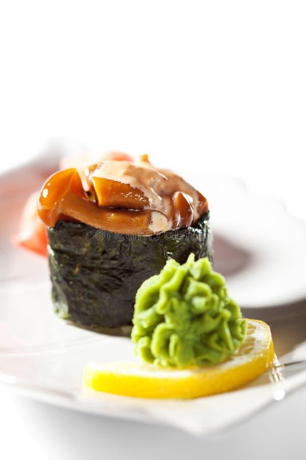 Cogumelos picantes Gunkan foto de stock royalty free