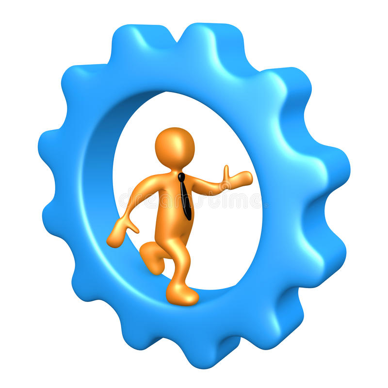cogwheel επιχειρηματιών μέσα στο τρέξιμο ελεύθερη απεικόνιση δικαιώματος