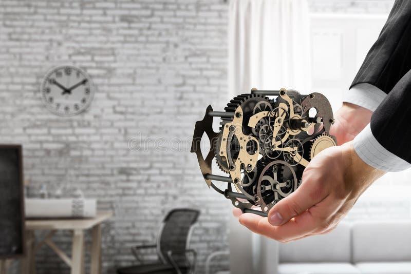 Cogwheel μηχανισμός διαθέσιμος Μικτά μέσα στοκ εικόνες με δικαίωμα ελεύθερης χρήσης