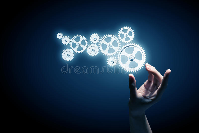 Cogwheel μηχανισμός ως έννοια ομαδικής εργασίας στοκ φωτογραφίες με δικαίωμα ελεύθερης χρήσης