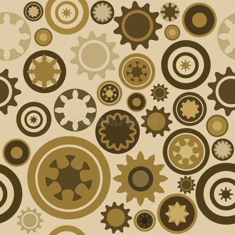 cogwheel πρότυπο άνευ ραφής απεικόνιση αποθεμάτων