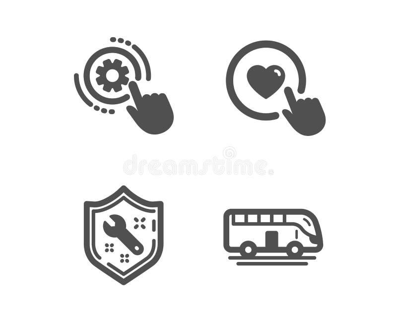 Cogwheel τοποθετήσεις, κλειδί και όπως τα εικονίδια κουμπιών Σημάδι γύρου λεωφορείων Εργαλείο εφαρμοσμένης μηχανικής, υπηρεσία επ απεικόνιση αποθεμάτων