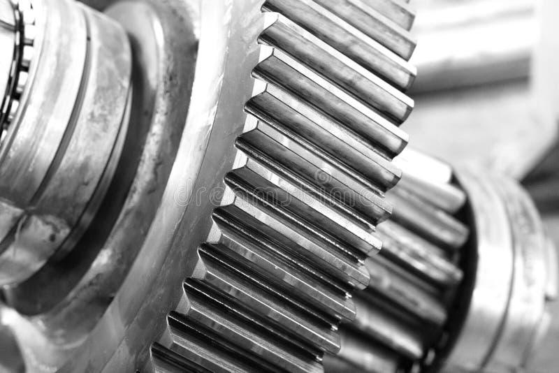 Cogwheel в черно-белом стоковое фото rf