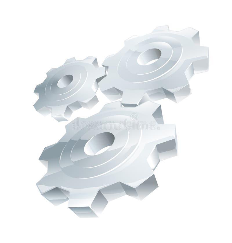 cogwheel vektor illustrationer