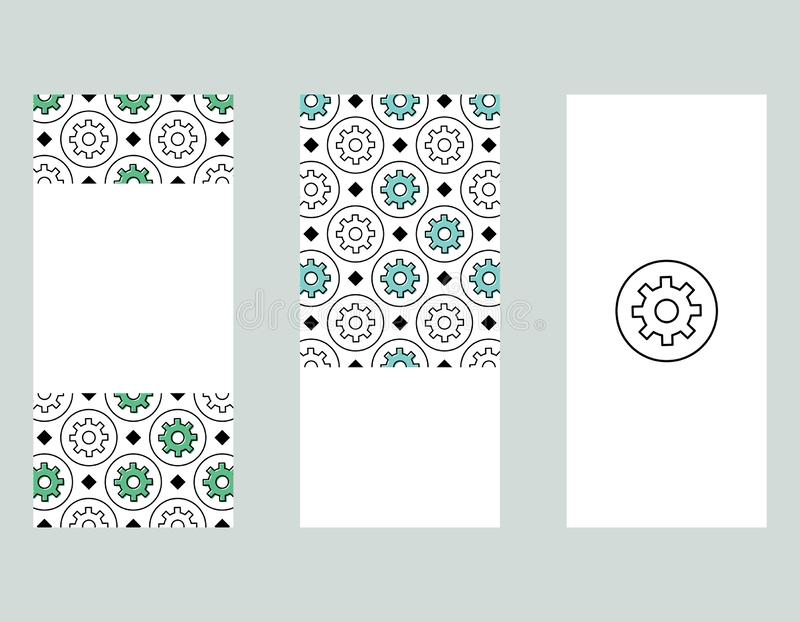 Cogwheel banners set stock illustration
