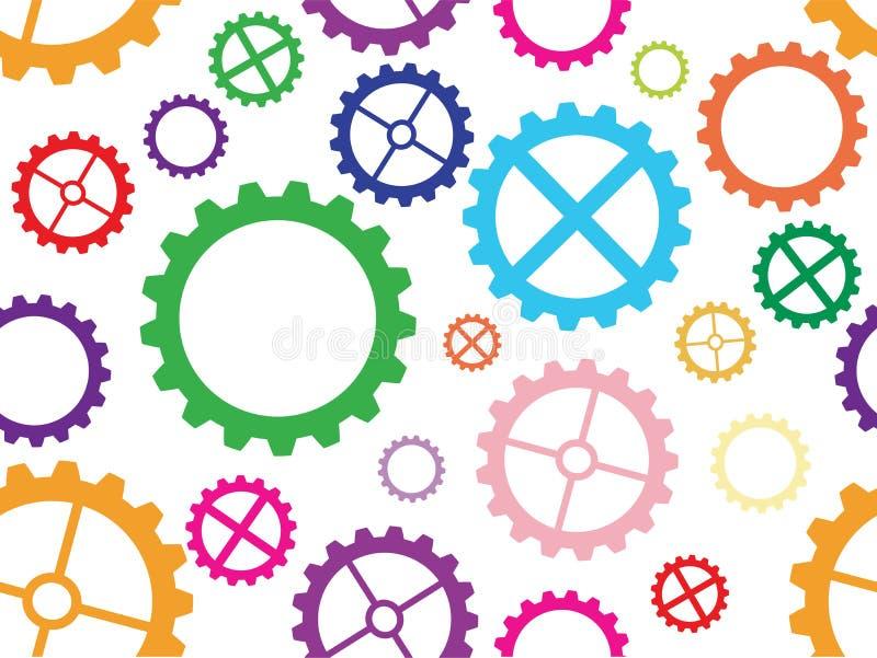 cogwheel bezszwowy deseniowy ilustracji